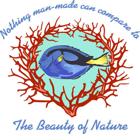 regal: Nothing man-made can compare to the beauty of nature.  Another cute design from Great Notions. Illustration