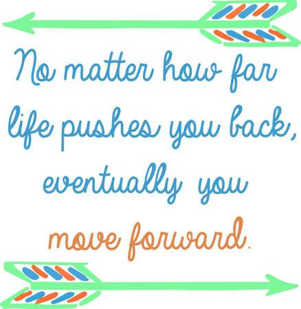 楽観的なプロジェクトのための励ましのこの格言を作る。  イラスト・ベクター素材