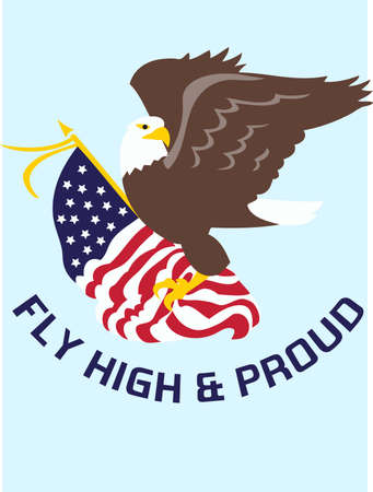 Be patriotic with an American eagle flag. 版權商用圖片 - 45353424