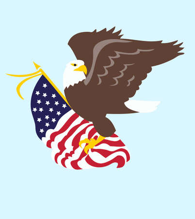 Be patriotic with an American eagle flag. 版權商用圖片 - 45353459