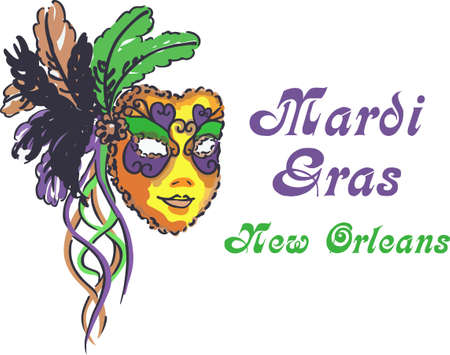 masque: Celebrate Mardi Gras with a colorful king cake.
