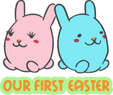 cottontail: Celebrate Easter with colorful bunny rabbits.