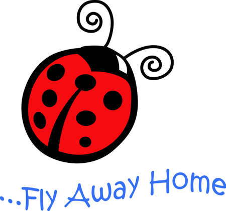 A pretty ladybug will look nice on a irthday project.
