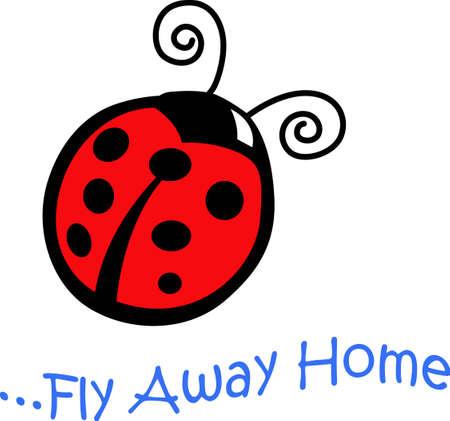 A pretty ladybug will look nice on a irthday project. Zdjęcie Seryjne - 45447317