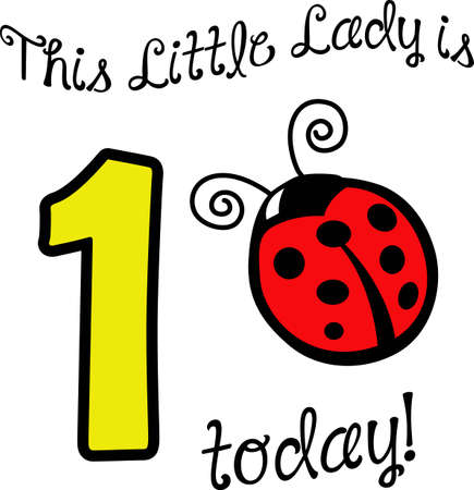 lady beetle: A pretty ladybug will look nice on a irthday project.
