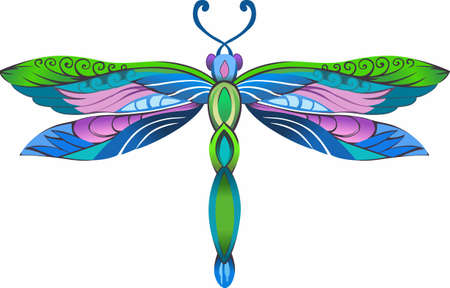This beautiful dragonfly in a jewel design is perfect for a gift or to provide inspiration. Another whimsical design from Great Notions! Ilustração