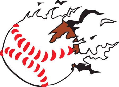 shred: Baseball fans will like a shredded ball.