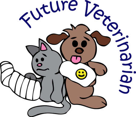 The cute pets will look great on a veterinarians project.