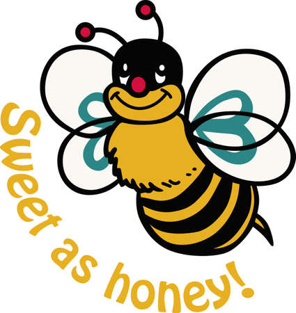 This cute bee will make a great kid's project. Ilustracja