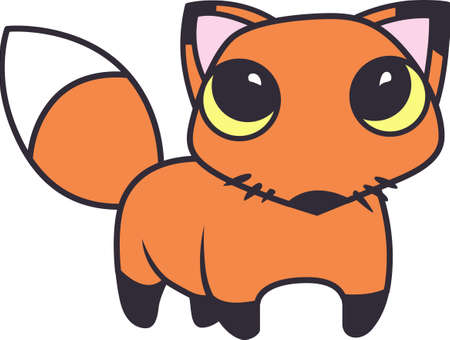 eyed: This cute fox will make a great kids project. Illustration
