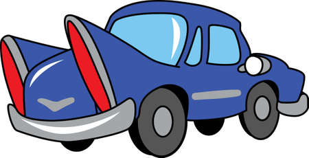 cute car: This cute car will make a great kids project. Illustration