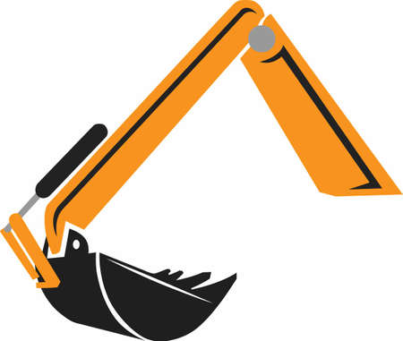A big orange excavator  and lots of dirt to dig.  A perfect design from Great Notions!