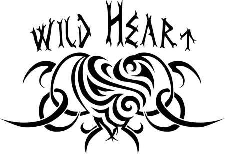 Go tribal with a fancy zebra heart. Illusztráció