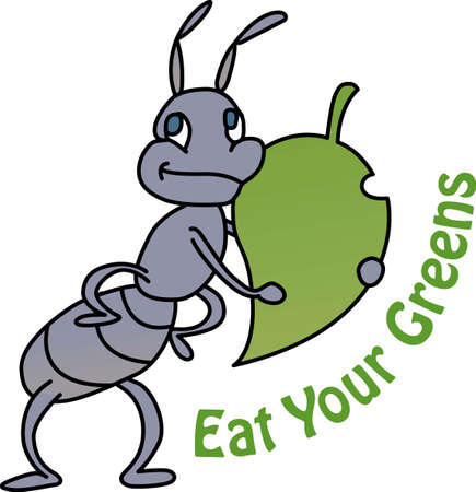 amusing: Put this cute little ant on a kids lunch bag.