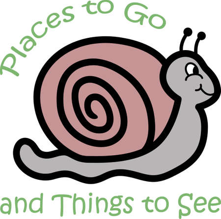 Make this snail for your next garden project. Ilustrace