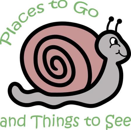 slug: Make this snail for your next garden project. Illustration