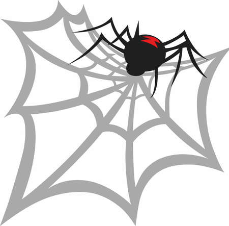 widow: This Halloween spooky spider is a perfect treat.  A scary design for Halloween from Great Notions!