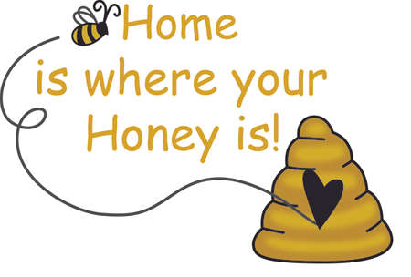 bee hive: Make your home sweet with a bee hive saying.