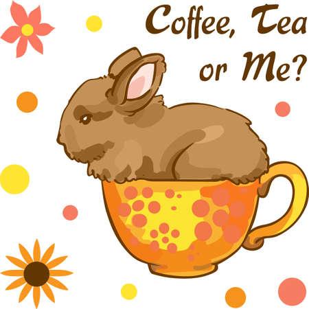 Tea drinkers will enjoy a cute little bunny for tea time.