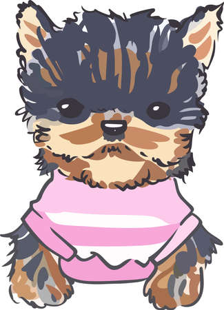 This adorable little yorkie will make a great design for a dog lover.