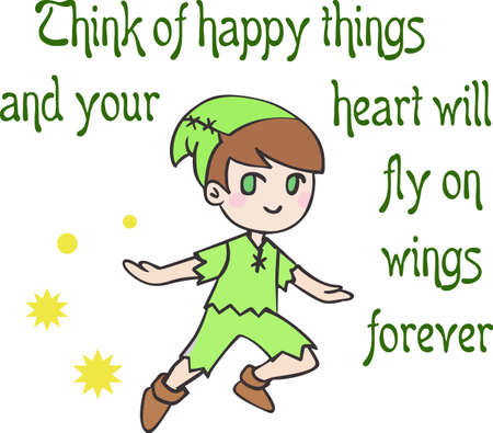 Have peter pan for a childs room dcor.