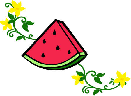 A watermelon applique will make a great picnic design.