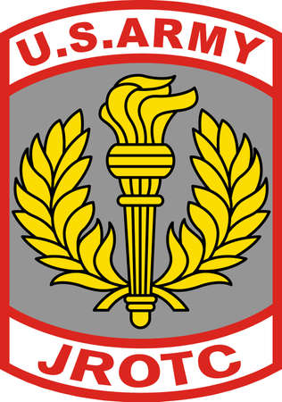 A JROTC patch makes a wonderful design for a soldier. Vettoriali