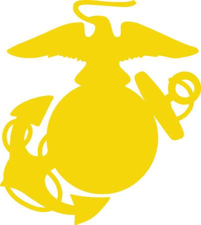 A marine will love this logo on a cap or shirt.