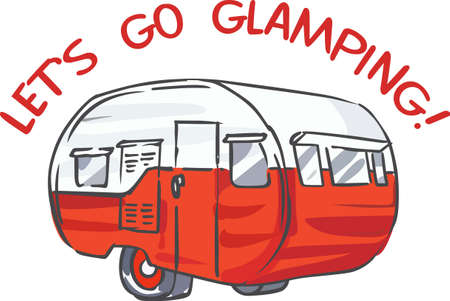 Show off your love for camping with a great vintage camper.