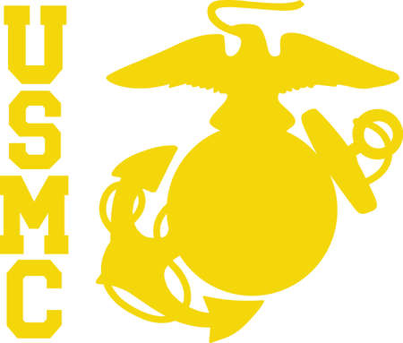 A marine will love this logo on a cap or shirt.
