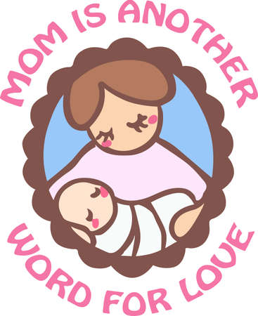 mamma: A new mother will love this beautiful baby design.