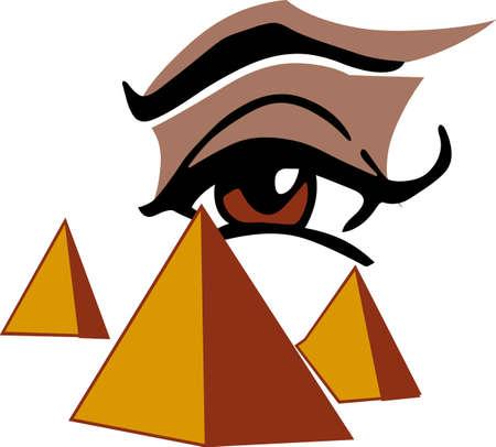 Anyone who has traveled to Egypt will like this pyramid scene. Vettoriali