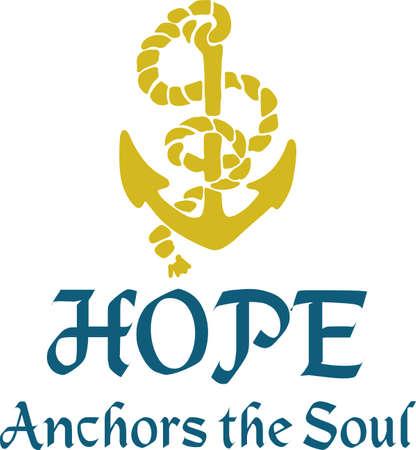 mooring: A great anchor makes a wonderful inspirational design. Illustration