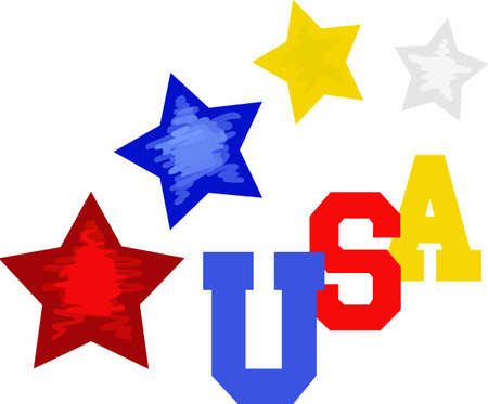 holiday celebrations: Show your patriotism with cute patriotic clothing, apparel and gifts with stars in red white and blue. Cool and hip 4th of July and Independence Day gear. A perfect design from Great Notions.