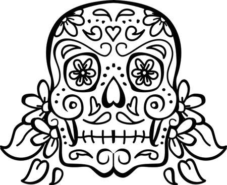 Celebrate the day of the dead with a floral skull.