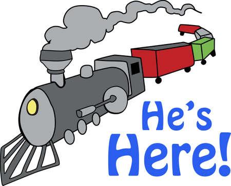 Trains are loved by men of all ages. Ilustração