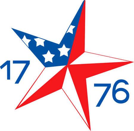赤、白、青でかわいい愛国的な衣料品、アパレル、星とプレゼントであなたの愛国心を表示します。7 月 4 日、独立記念日のクールでヒップのギアし  イラスト・ベクター素材