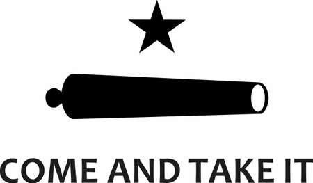 Often considered the first battle of the Texas Revolution, the Texian forces defeated the Mexican army in September 1835. Another great design from Great Notions. Stock Illustratie