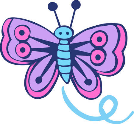 Were celebrating the Dog Days of Summer with a beautiful butterfly to BEAT THE HEAT! Get this design by Great Notions! Illustration