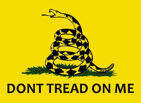 私にトレッドしない!このガズデン旗の歴史は、ガラガラヘビがアメリカ独立の強力な記号になった方法を指示します。偉大な概念によって別の偉大