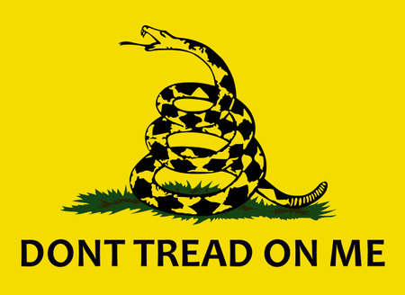 serpiente de cascabel: No pise en mí! Esta historia de la bandera de Gadsden dice cómo la serpiente de cascabel se convirtió en un poderoso símbolo de la independencia americana. Otro gran diseño por grandes conceptos!