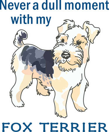 Have a cute wire hair fox terrier with you whereever you go with this litte dog.