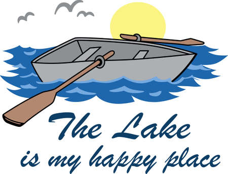 Make a special shirt for a day on the lake.