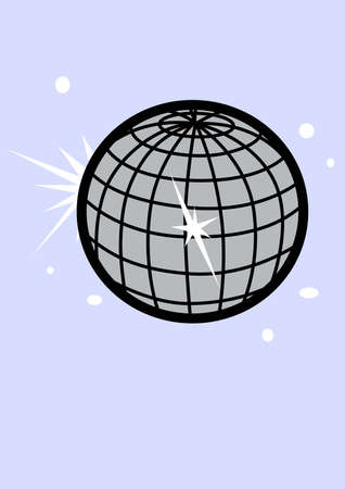 mirror ball: Go disco with a mirror ball on a hat. Illustration