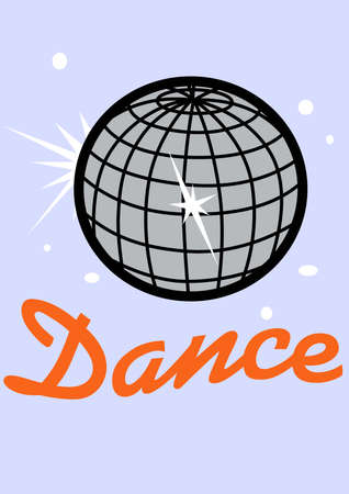 Go disco with a mirror ball on a hat. Illusztráció