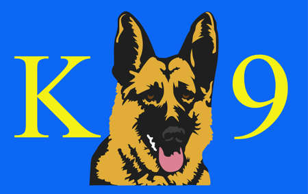 Make a great sign for a special working dog.