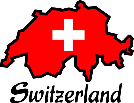 swiss flag: Display your love for travel with a map of another country.
