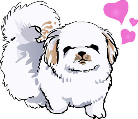 pekingese: Show off your favorite dog with this cute design.