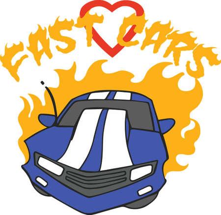 남자들은 핫로드 자동차를 좋아합니다.