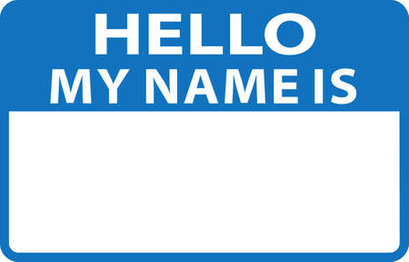 individualit�: Show your individuality with a fun name tag. Vettoriali